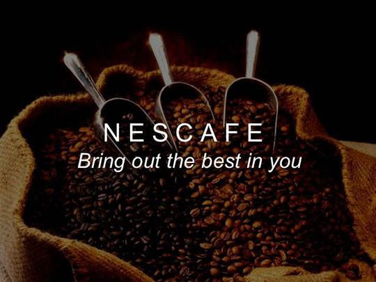 nescafe slogan