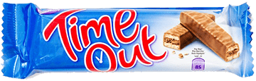 Time Out (Chocolate Bar) slogan