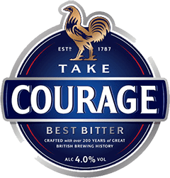 Courage Brewery slogan.png